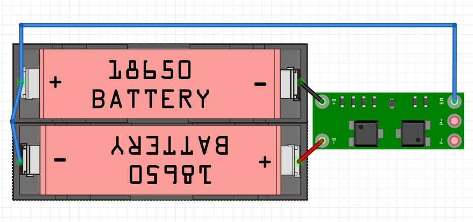 2S BMS 18650 Li-ion battery