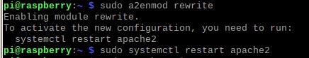 enable rewrite module apache