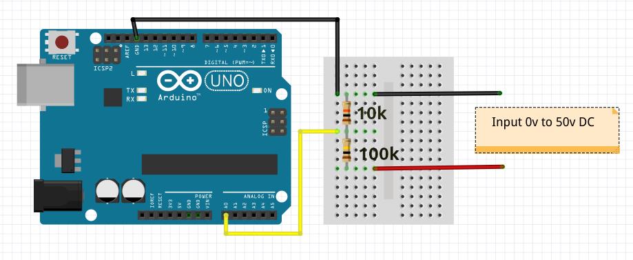Arduino Voltmeter Circuit